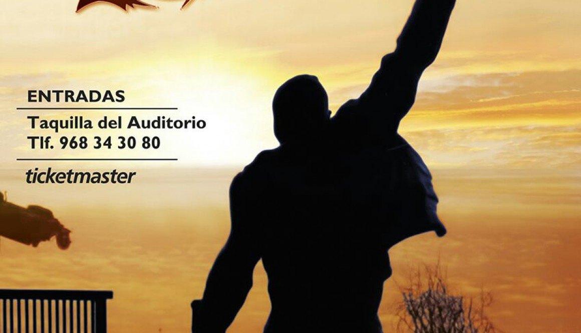 Cartel Concierto Auditorio Murcia Unrisen Queen