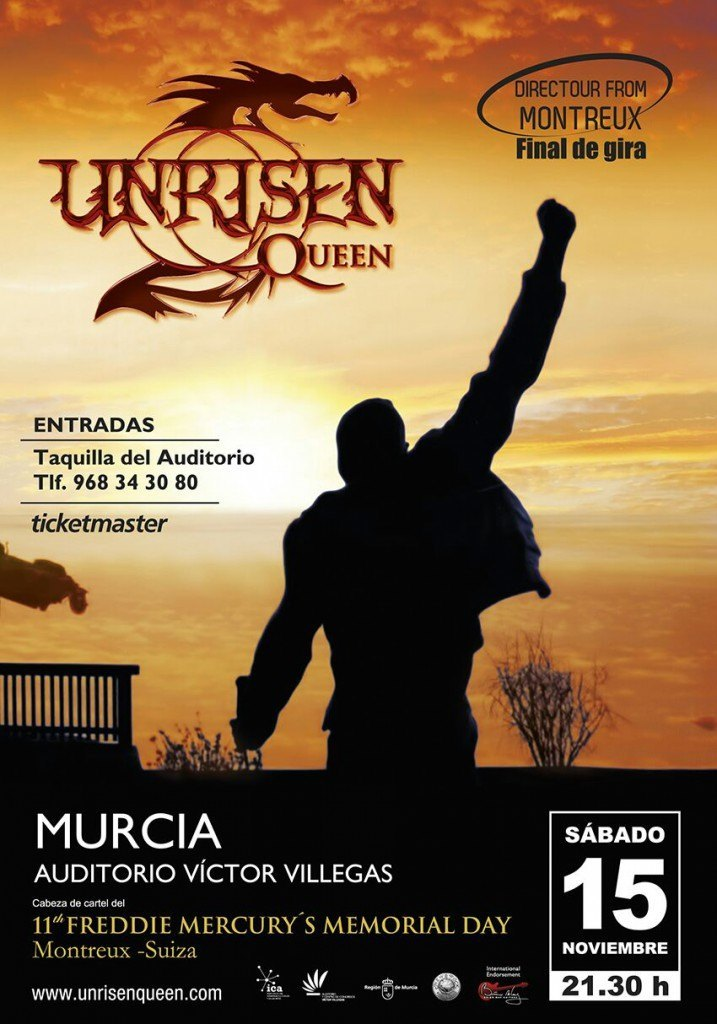 Cartel Concierto Auditorio Murcia Unrisen Queen