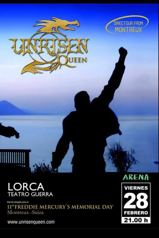 Cartel Concierto Lorca Unrisen Queen