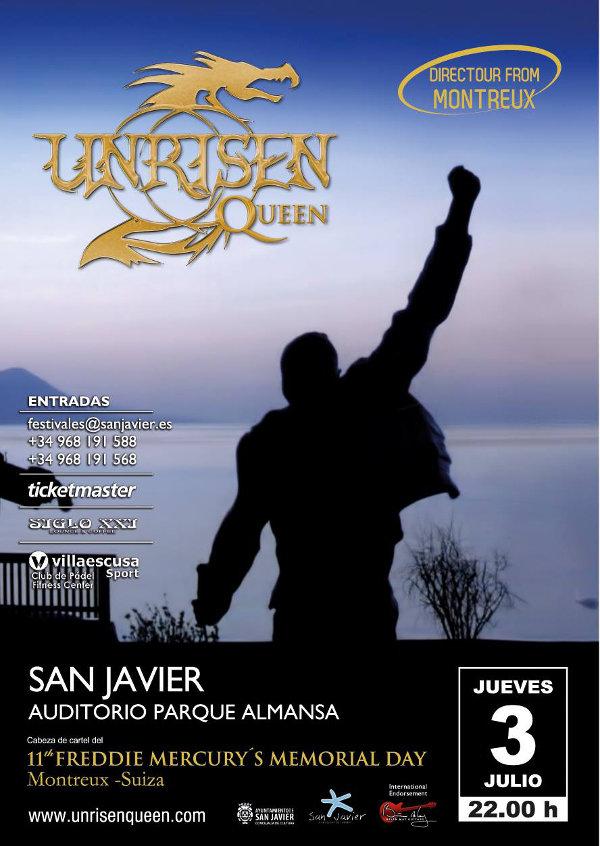 Cartel Concierto San Javier Unrisen Queen