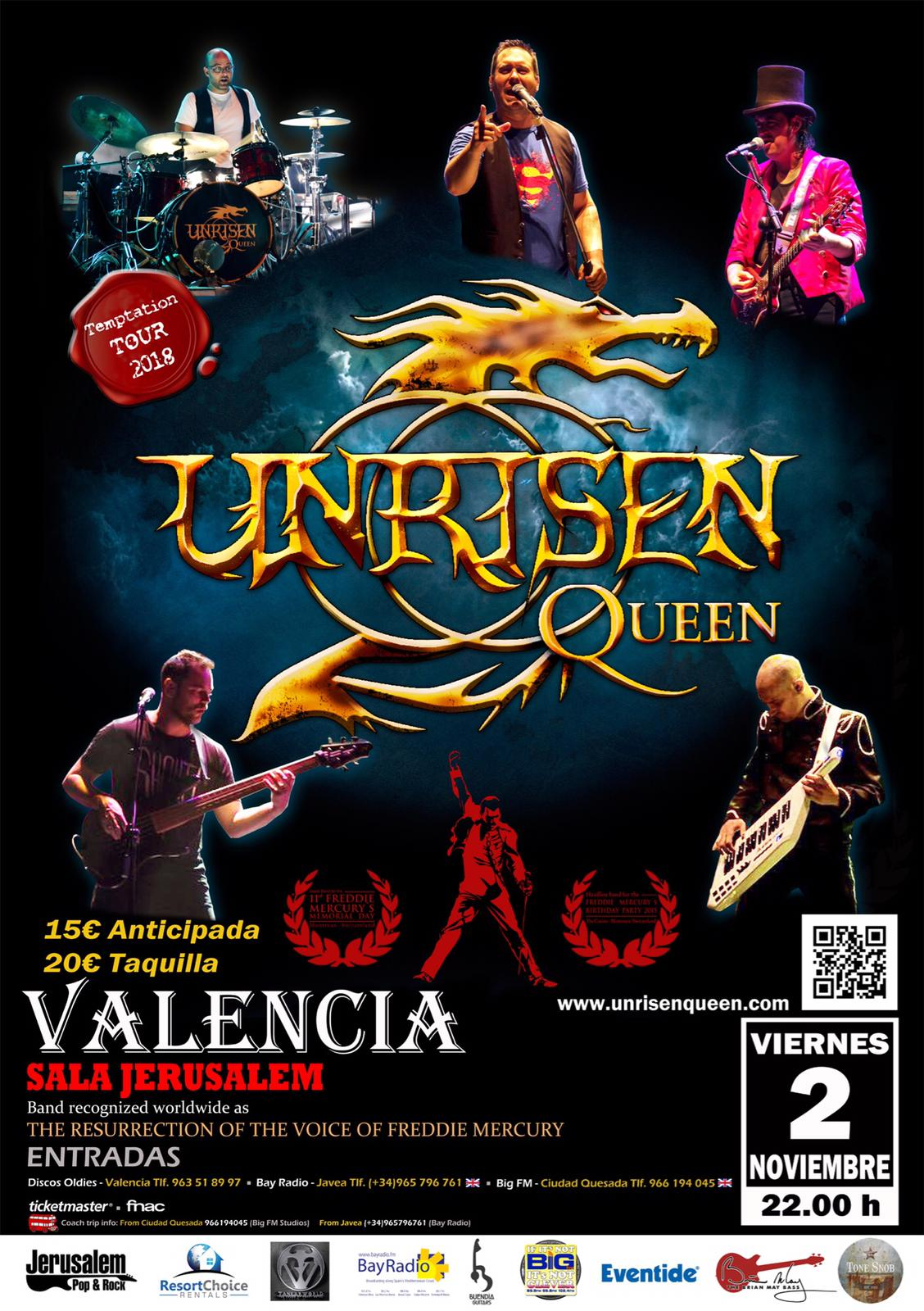Unrisen Queen 'Temptation Tour 2018'