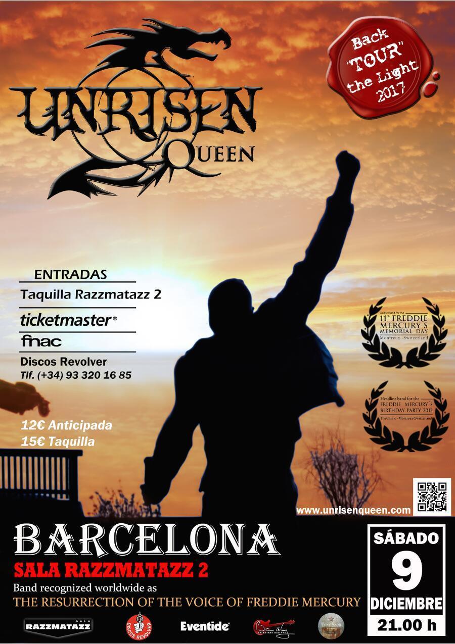Unrisen Queen Concert Posters - BARCELONA 2017