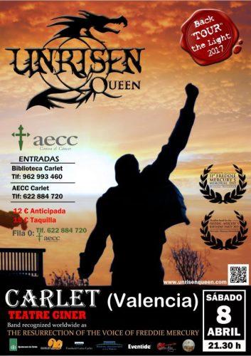 Unrisen Queen Concert Posters - CARLET 2017