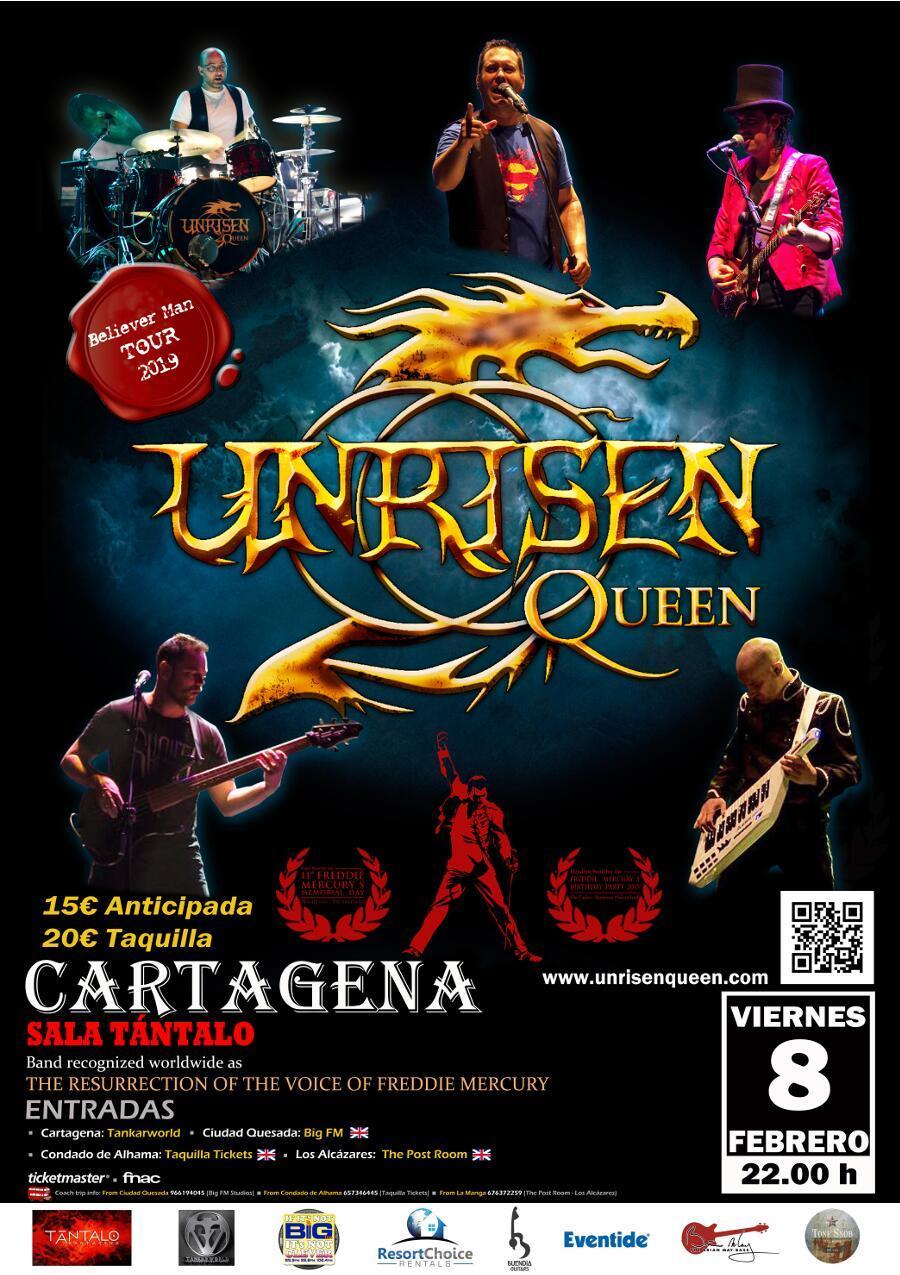 Unrisen Queen Concert Posters - CARTAGENA 2019