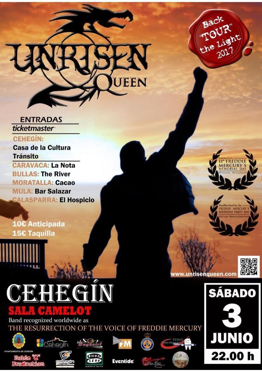 Unrisen Queen Concert Posters - CEHEGIN 2017