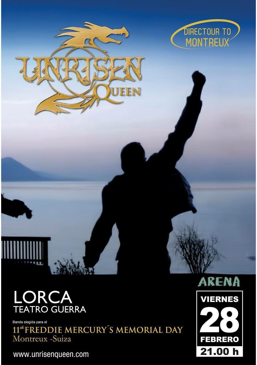 Unrisen Queen Concert Posters - LORCA 2014