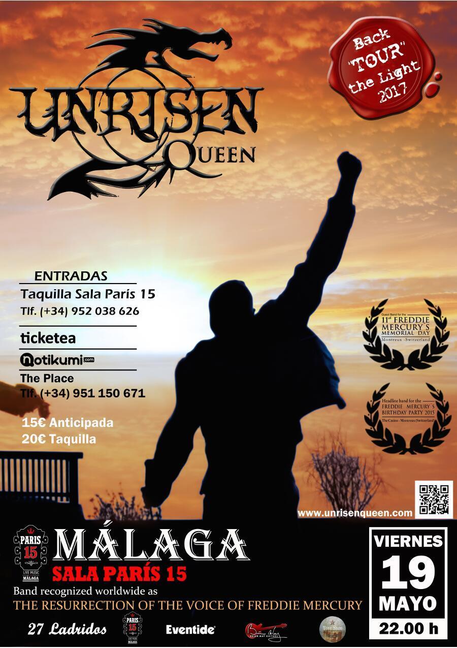 Unrisen Queen Concert Posters - MALAGA 2017