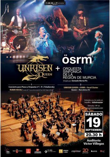 Unrisen Queen Concert Posters - OSRM 2015