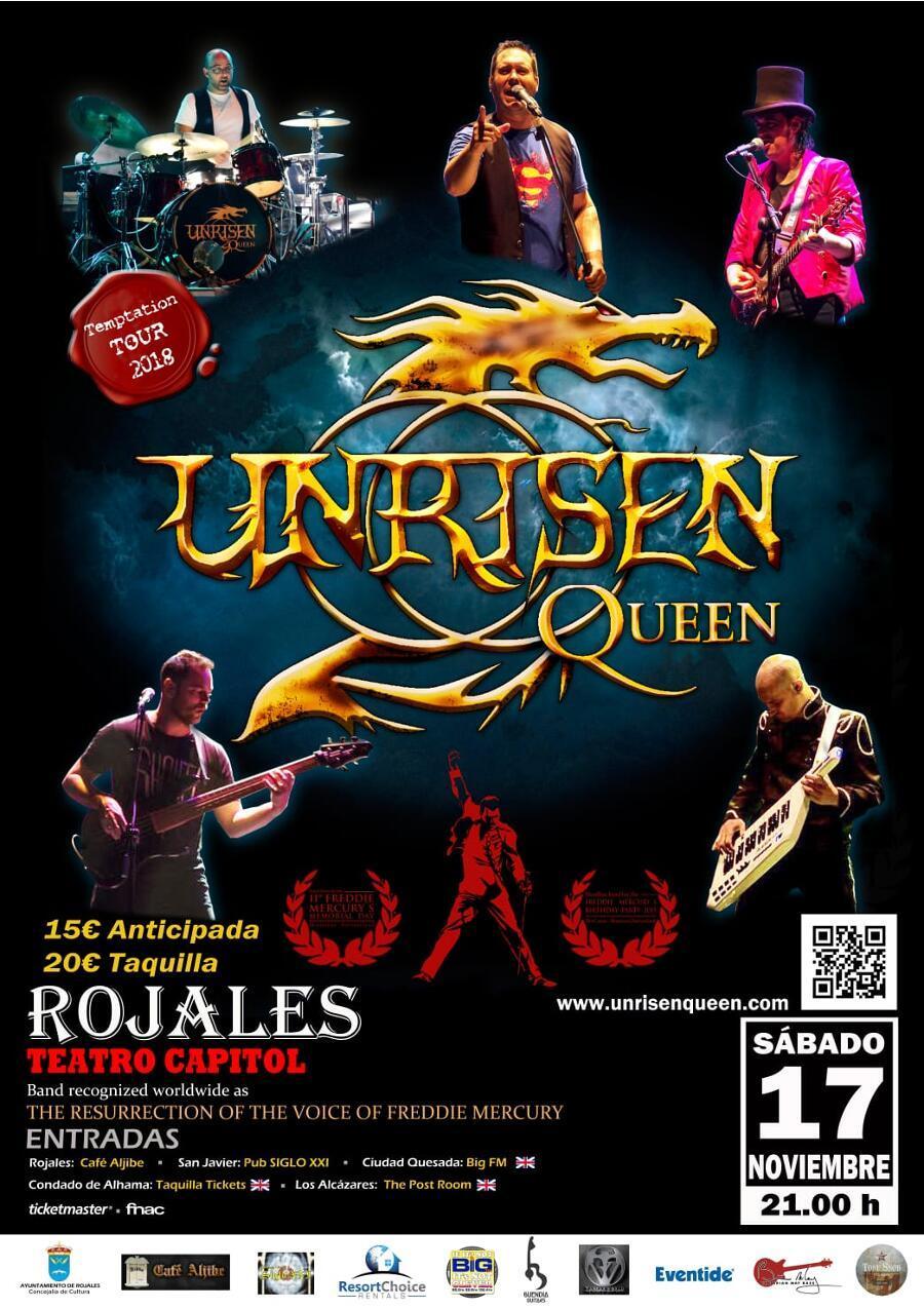 Unrisen Queen Concert Posters - Rojales 2018