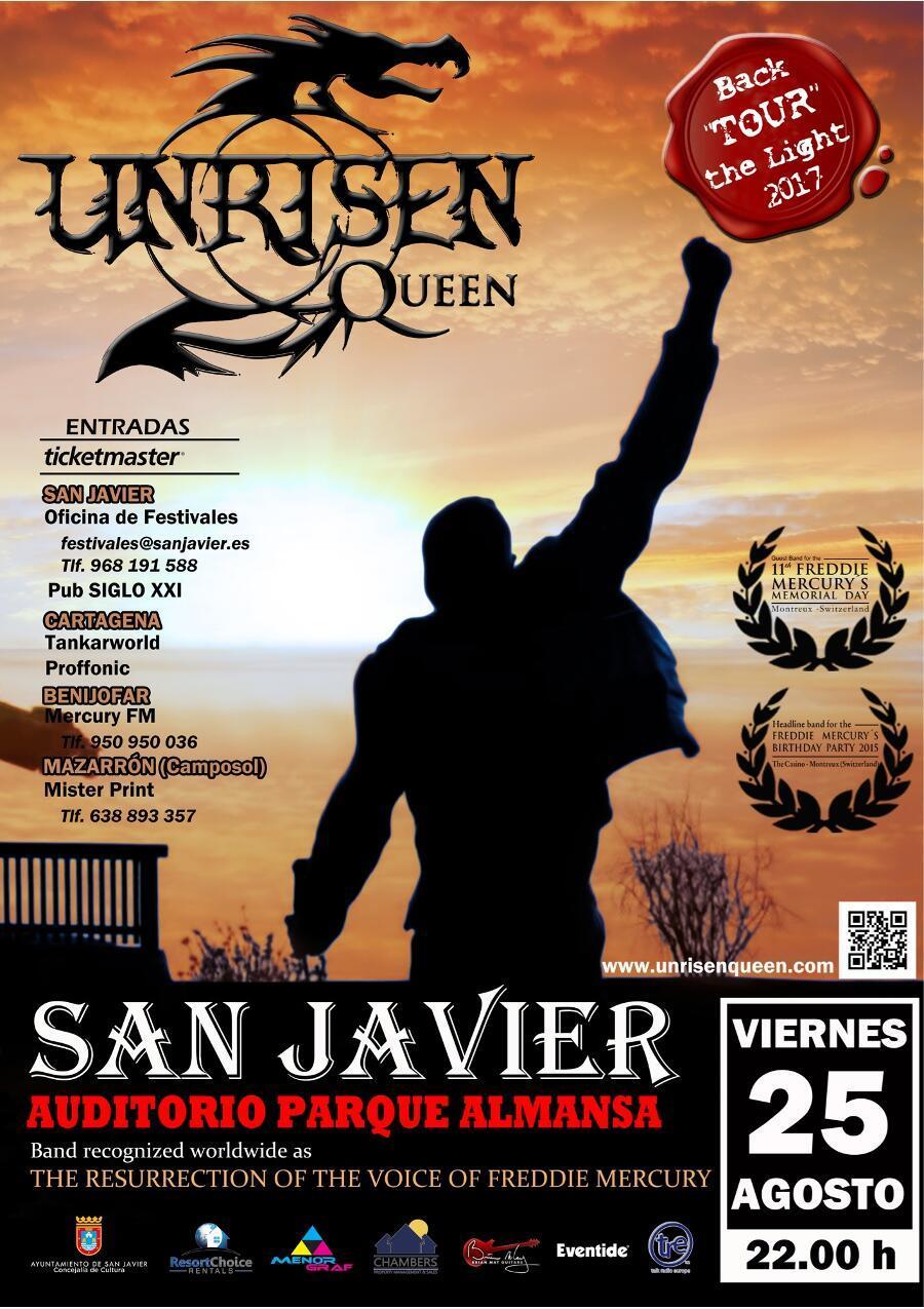 Unrisen Queen Concert Posters - SAN JAVIER 2017