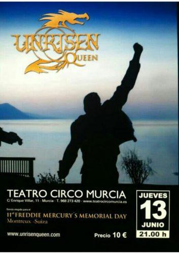 Unrisen Queen Concert Posters - TEATRO CIRCO 2013